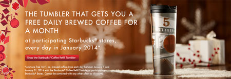 Starbucks January Promotion!