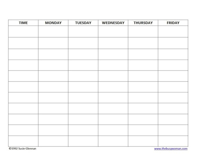 Template For Lunch And Break Schedule | Calendar Template 2016